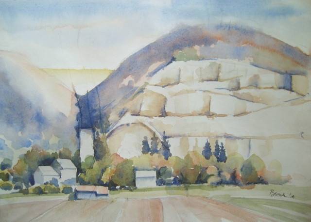 Merkle Quarry - watercolor, Hans Busch